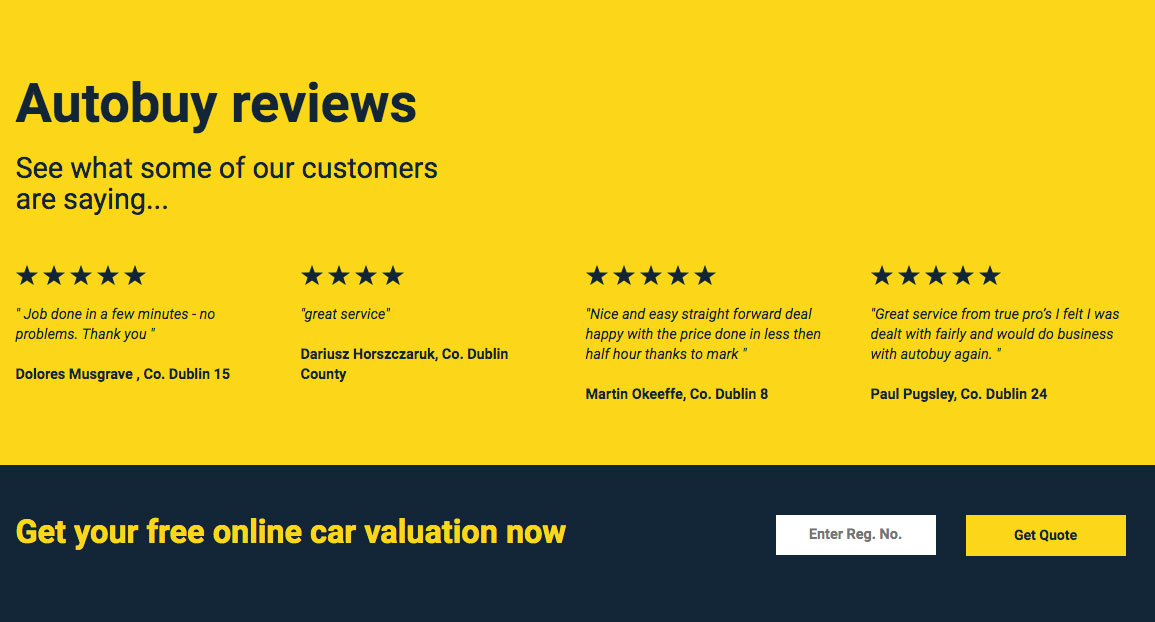 Autobuy review section