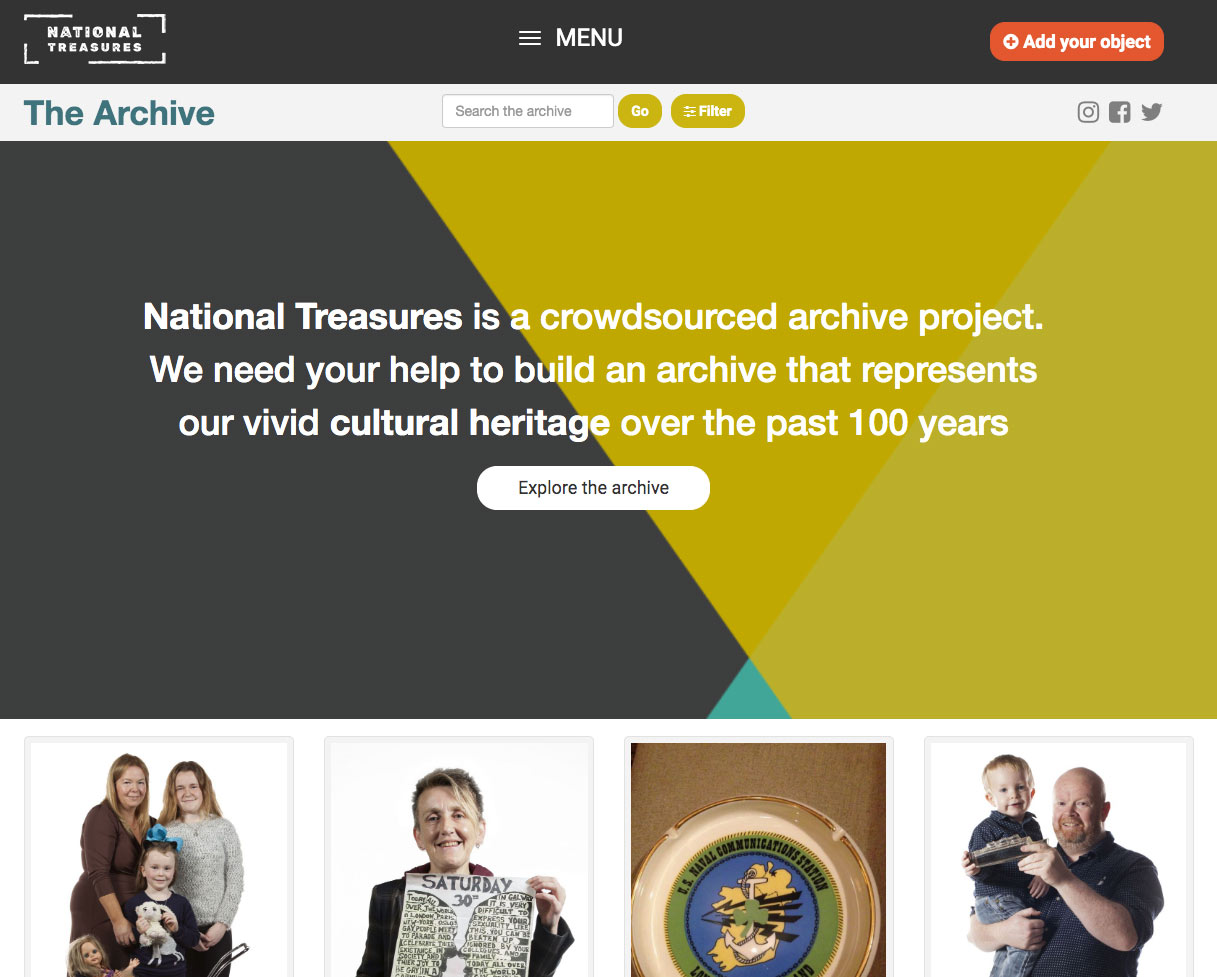 National Treasures homepage